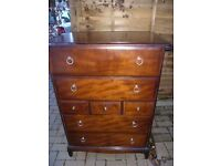 Stag Minstrel mahogany chest of 7 drawers