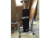 Folding weight bench unused