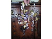 CHANDELIER -- small, good for parts, some glass detail missing **CHARITY SALE**