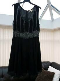 Black sparkly party dress