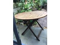 Garden table. Hard wood