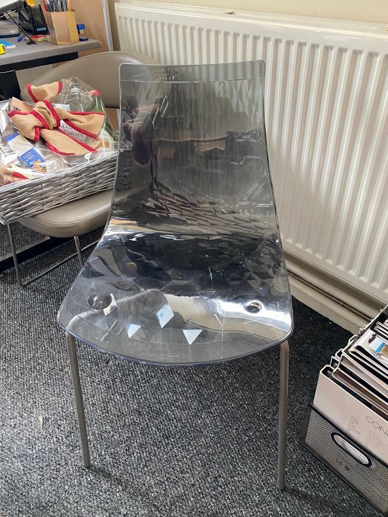 Acrylic Smokey Grey Chair In Norwich Norfolk Gumtree
