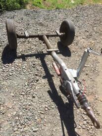 Trailer chassis knott 750 kilo from Ingersoll rand compressor 7/31e