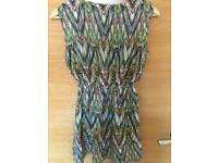 Multicoloured top/tunic size 12