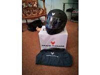 Unused motorcycle helmet