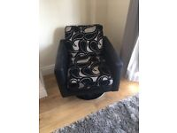 DFS 2/3 seater sofa bed swivel chair and foolsole