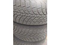 4x Kumho 225/55 R17 tyres LIKE NEW