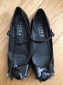 Office Black Patent Leather Shoes Size 5