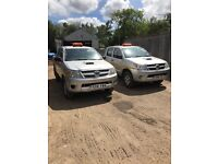 2 x Toyota hilux for sale 4000£ each