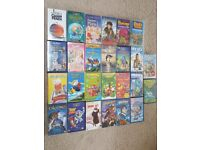 26 assorted children's VHS videos - all U & PG rated