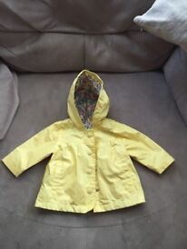 Baby girl marks and spencer coat. Age 3-6 months. Worn once.