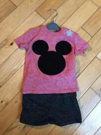 Baby boy mickey mouse short and t-shirt set
