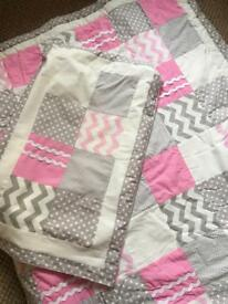 Homemade Toddler bed set and curtains