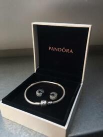 17cm Pandora Bracelet with 2 Spacers