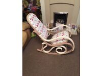 Upcycled Rocking Chair with matching cushion