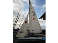 Laser II 2 Regatta Sailing Dinghy (w/ spinnaker, trapeze, cover, road trailer)