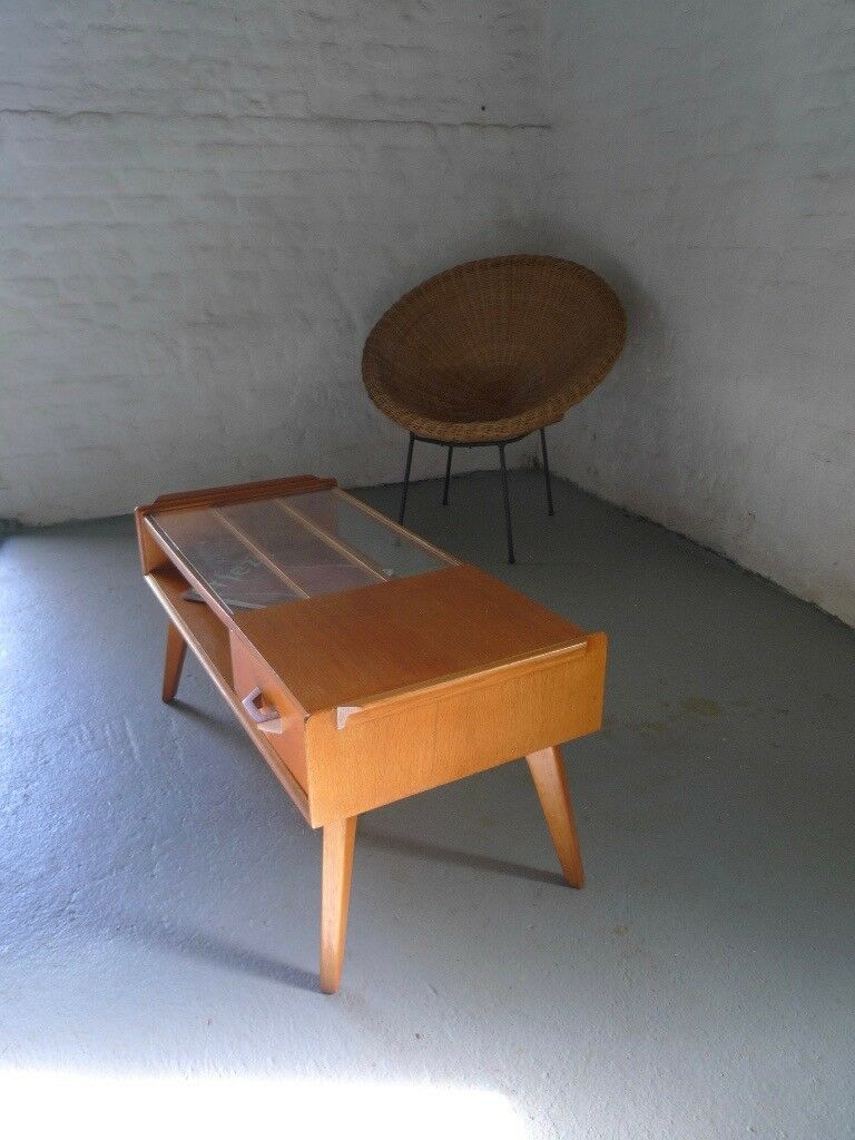 G Plan Coffee Table Oak Mid-century 50s Vintage