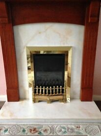 Balanced Flue Gas Fire with Marble Surround and Mantlepiece