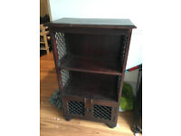 New Solid Wood 2 Shelf Cabinet, damage to top, Cost £150