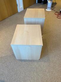 2x Oak Bedside Tables