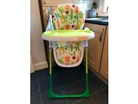 Cosatto noodle supa highchair with superfoods design