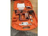Paslode I'm f16 nail gun complete with 2 batteries charger and carrying case