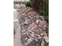Approximately 1200 complete red bricks for sale.