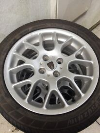 Set of 4 rover wheels. 205/50/16. Good condition. Tyres probably past the date.
