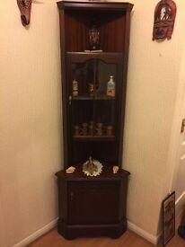 Dark wood reproduction corner unit