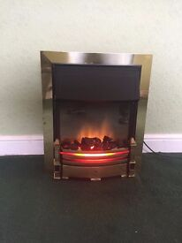 Dimplex WHT20BR Brass Surround Electric Heater, perfect working order