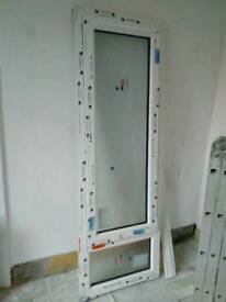Pvc window frosted glass, brand new 676x2007mm