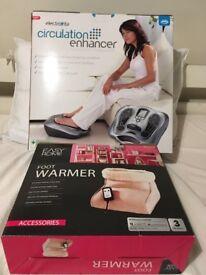 Circulation enhancer and foot warmer