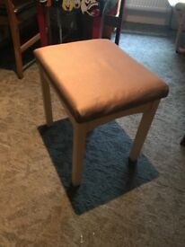 Wooden and fabric stool