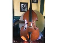 Double bass for sale new strings and stand