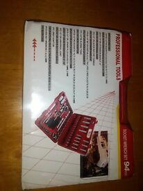 "94PC 1/2"" 1/4"" Socket Set Screwdriver Bit Tool Torx Ratchet Driver Kit With Case"