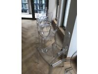 kartell louis ghost dining chair by philippe starck