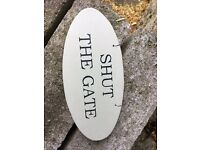 Set of 3 oval garden signs. Assorted slogans. Set of 3 for £9