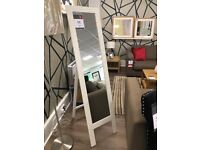 Free standing cream mirror