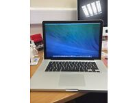 APPLE MACBOOK PRO 15INCHES 2.2GHZ qurd i7-4GBRAM-500GB-ADOBE CS6-VERY CLEAN PLEASE CALL 07707119599