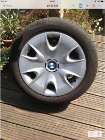 BMW set of 4 winter tyres on steel wheels