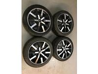 """17"""" Alloy Wheels with winter tyres"""