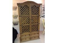 Reclaimed Mexican Antique Drinks Cabinet / Robe. Heavy Piece Furniture. VGC