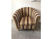 Stripped brown chair