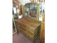Vintage 2 over 2 drawers Dressing Table