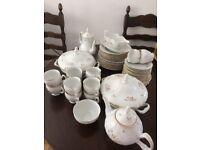 Tea service 50piece beautiful floral Bernadotte designer