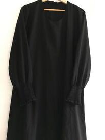Black Thin Abaya Dress