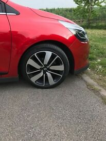 Stunning Red Car 2014 with black and red interior trim. Alloy wheels with black inserts. 2014