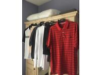 Golf Clothes (6 Items) - Includes Lyle & Scott Waterproof Jacket, Adidas Polo Shirts & Trousers