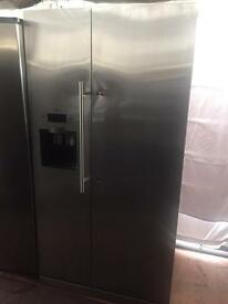 Stainless steel good looking frost free A-class American style fridge freezer