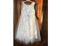 Monsoon girls ivory bridesmaid dress with cardigan